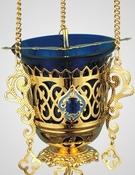 Лампада подвесная с украшением