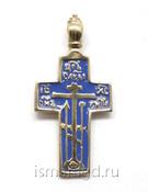 Крест нательный мужской с эмалью