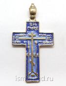 Крест нательный большой мужской с эмалью